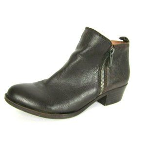 Lucky Brand Basel Dark Brown Ankle Booties 7M EUC